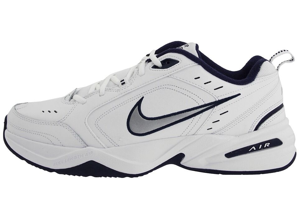 0862d42a001af NIKE AIR MONARCH IV MENS CROSS TRAINING SHOES WHITE NAVY EXTRA WIDE ...