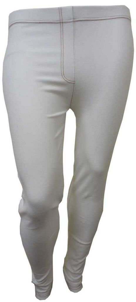f1456f5313c7a NEW PLUS SIZE WHITE DENIM LEGGINGS JEGGINGS STRETCHY SKINNY JEANS on ...