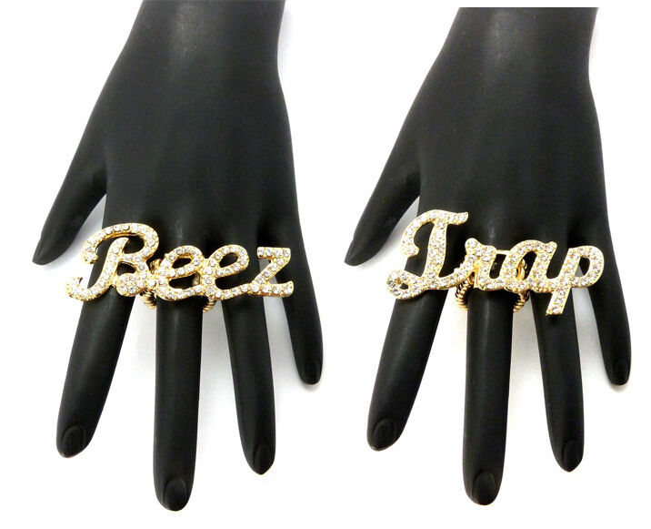 NEW ICED OUT NICKI MINAJ BEEZ IN THE TRAP STRETCH BAND RING MR30/31