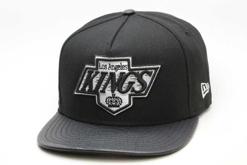 265eb06e9125d New Era Los Angeles LA Kings Snake Skin Strapback Hat  Black  Snapback