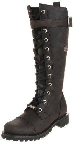 Harley Davidson Womens Savannah Lace Up Leather Riding Boots