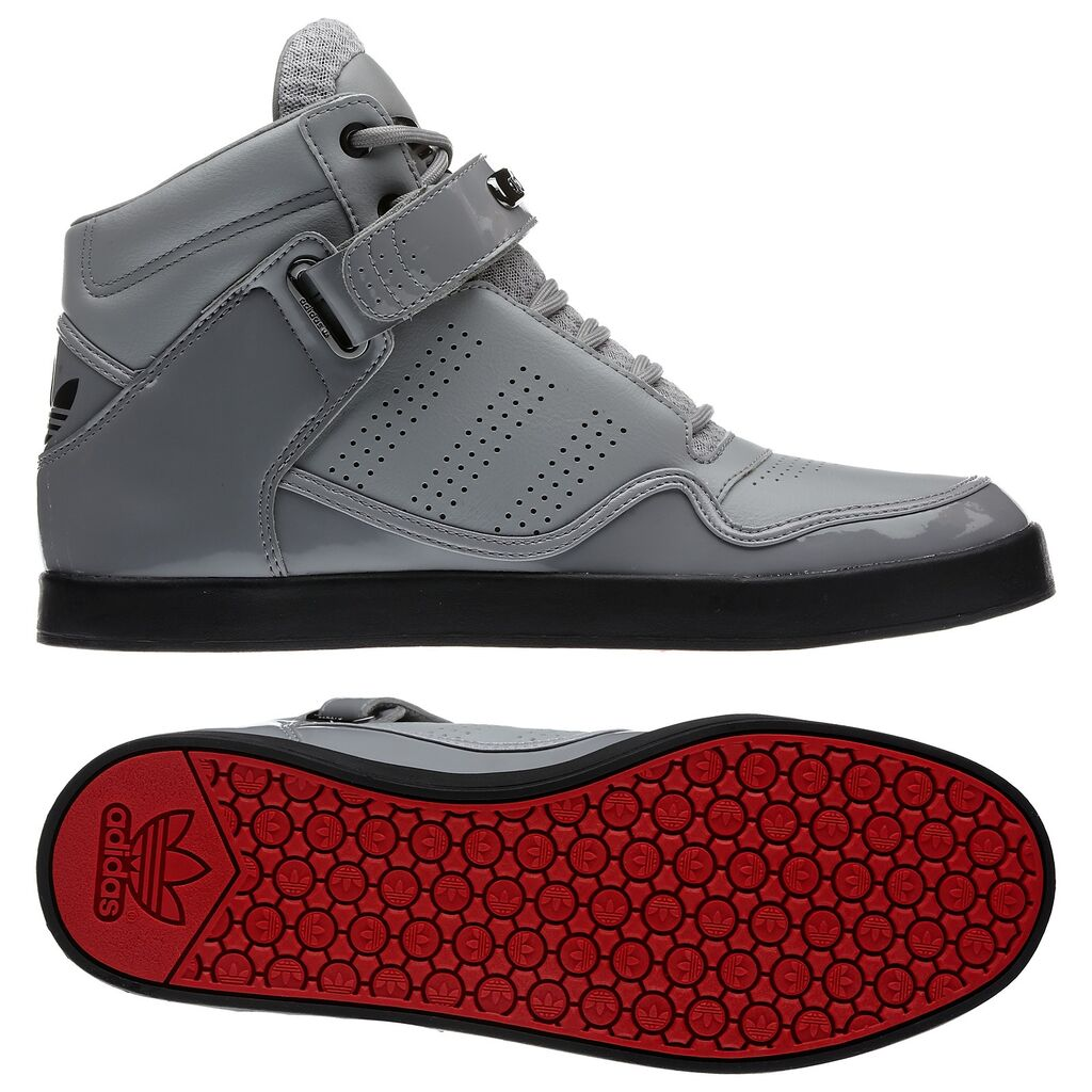Adidas Adi Rise AR 2.0 Aluminum Grey Black MID Mens Red Bottom Shoes ... 358fd706ab6a