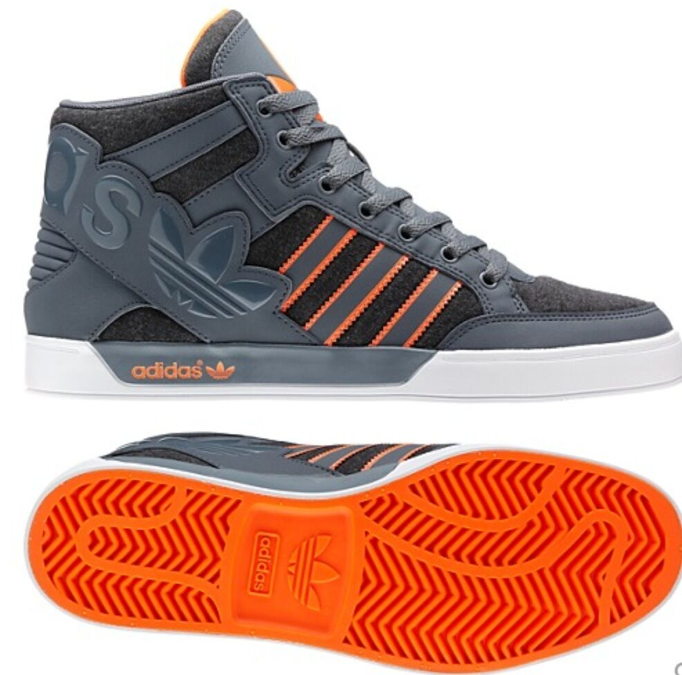 finest selection 5dc01 f2b63 Originals Mens HARD COURT HI BIG LOGO Gray Orange White Shoes top