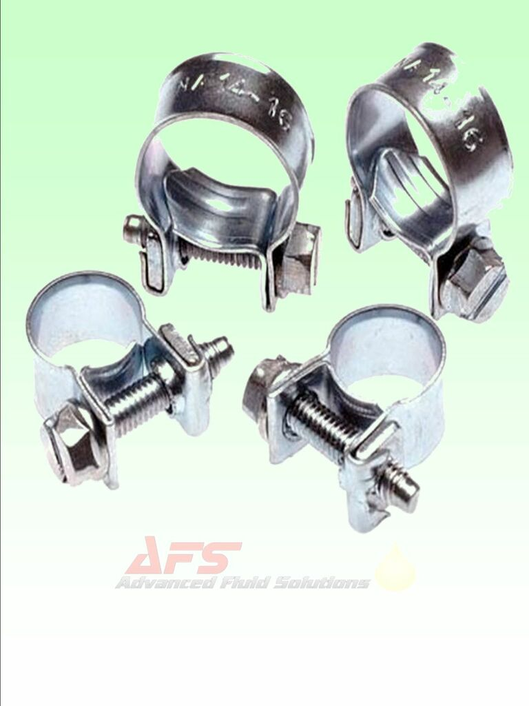 Choice of Mini Fuel Line Hose Clips Pipe Clamps   Air Water Diesel
