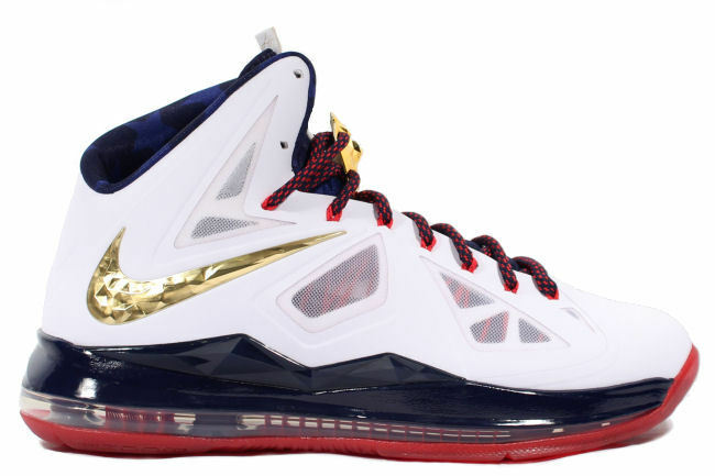 low priced 614e3 49482 Nike Lebron 10+ X+ USA Sport Pack Gold Medal Pack 542244 100 VERY