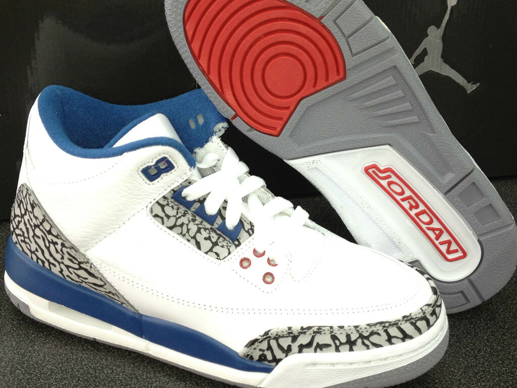fed0beef4bf New AIR Jordan 3 Retro 2011 (GS) White/True Blue 398614 104 Size 3.5 ...
