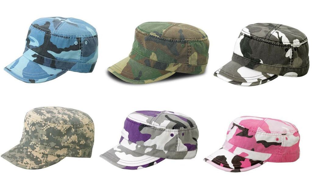 NEW CAMO CAMOUFLAGE CASTRO CADET MILITARY STYLE ARMY HAT CAP ENZYME