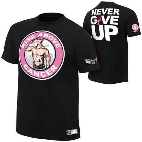 7e9a7cdc509 John Cena RISE ABOVE CANCER WWE Authentic T Shirt OFFICIAL LICENSED ...