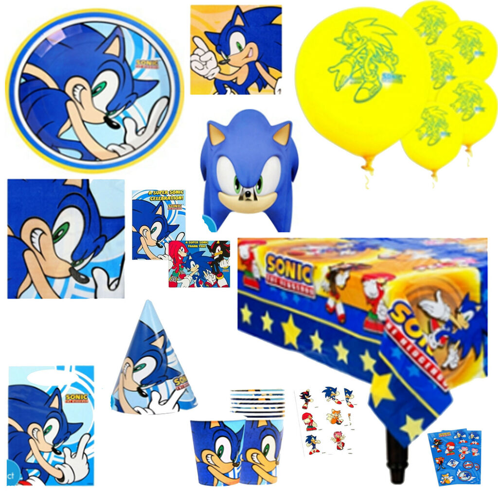Sonic The Hedgehog Birthday Party Supplies Create Your Own Set You On Popscreen