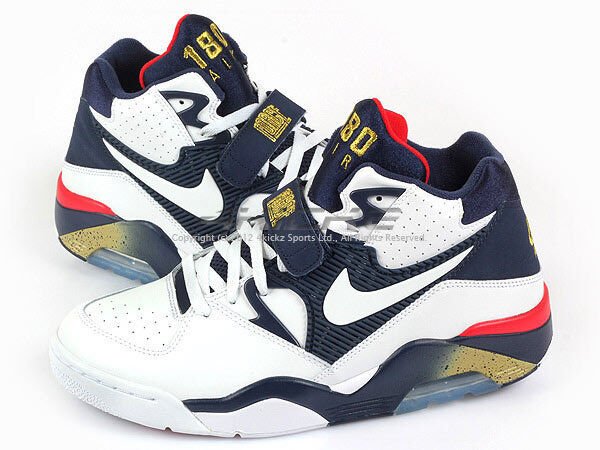 the best attitude 80df7 a750c Nike Air Force 180 Charles Barkley Olympic White Midnight Navy Gold