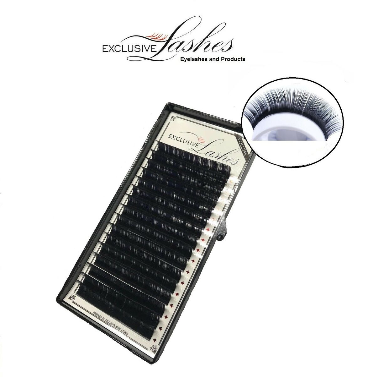 Exclusive volume 3d 6d semi permanent individual eyelash extensions 