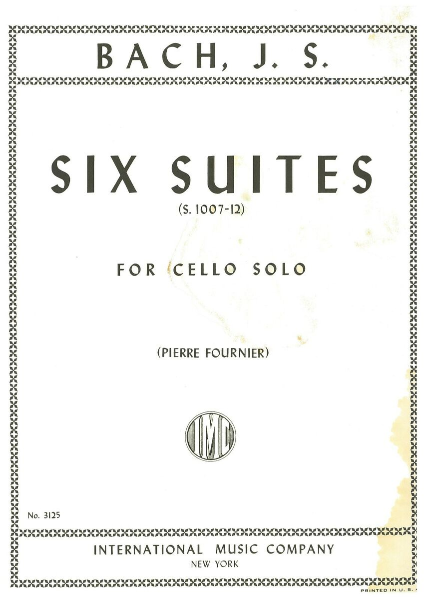 Spartito musicale six suites bach j s for cello solo formato pdf 