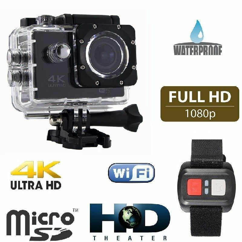Gopro q3 emd sport action camera 4k wifi ultra hd16mp video telecomando cam 4k 