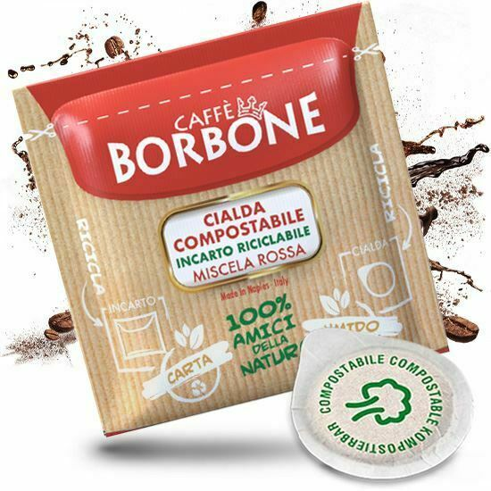 300 cialde filtro carta 44mm caffe borbone miscela rossa originali break shop 