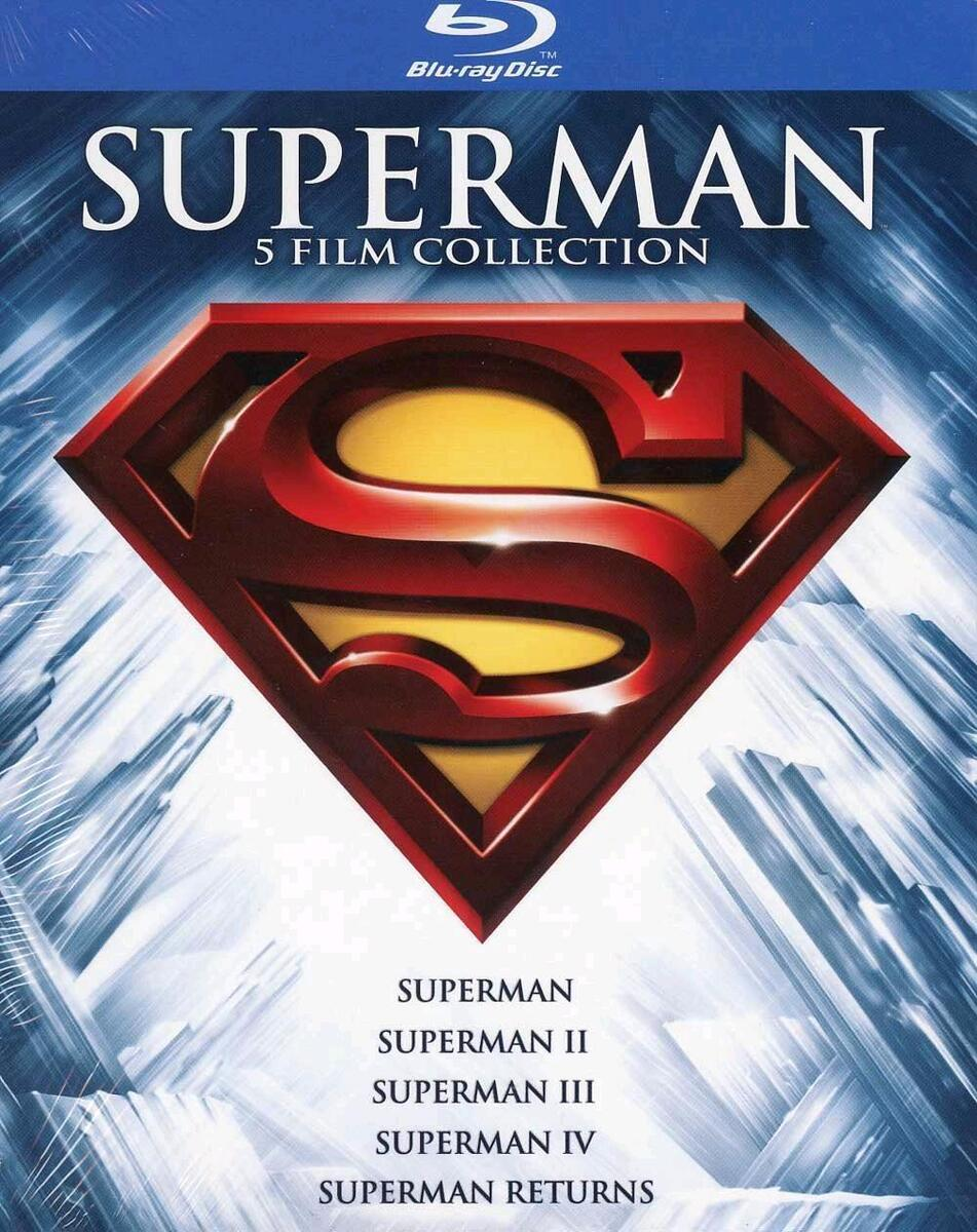 Superman collection cofanetto 5 film blu ray nuovo sigillato dv59 