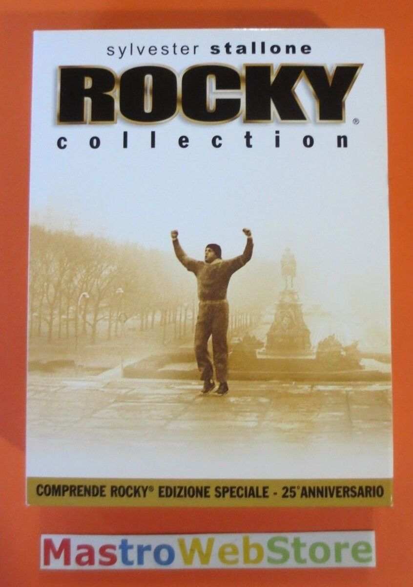 Rocky collection cofanetto 5 film 25 anniversario dvd box cartonato dv56 