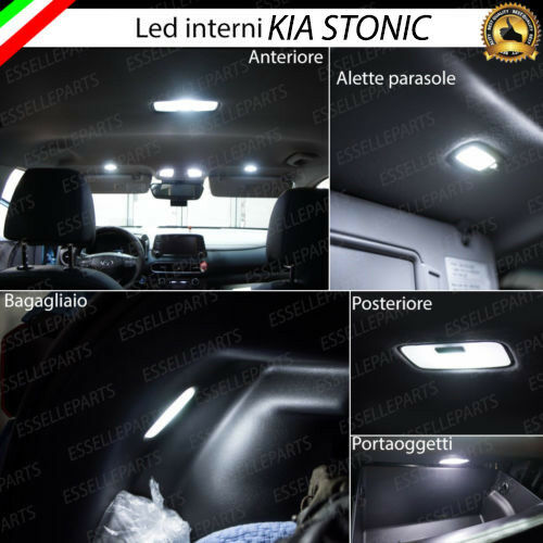Kit led interni kia stonic kit di conversione completa canbus 6000k no error 