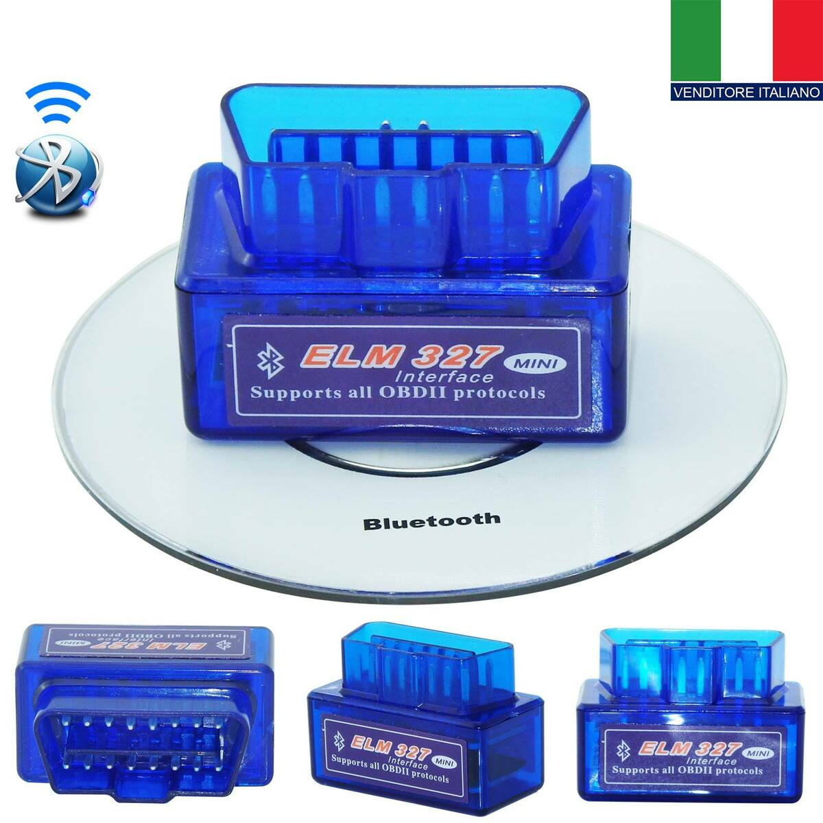 Mini scanner auto bluetooth obd2 elm327 v 2 1 android coppia auto scan tool it 