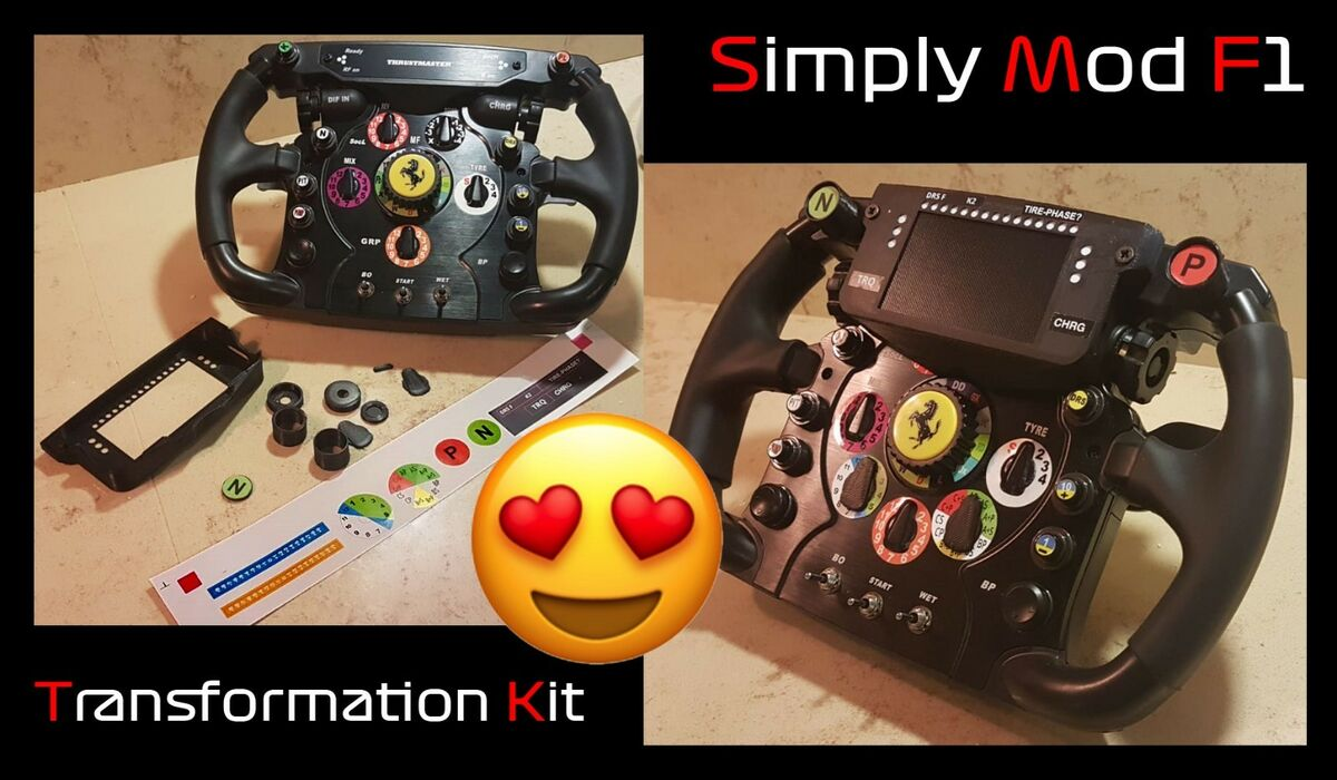 Iphone 4s transformation kit simply mod for thrustmaster ferrari f1 wheel add on 