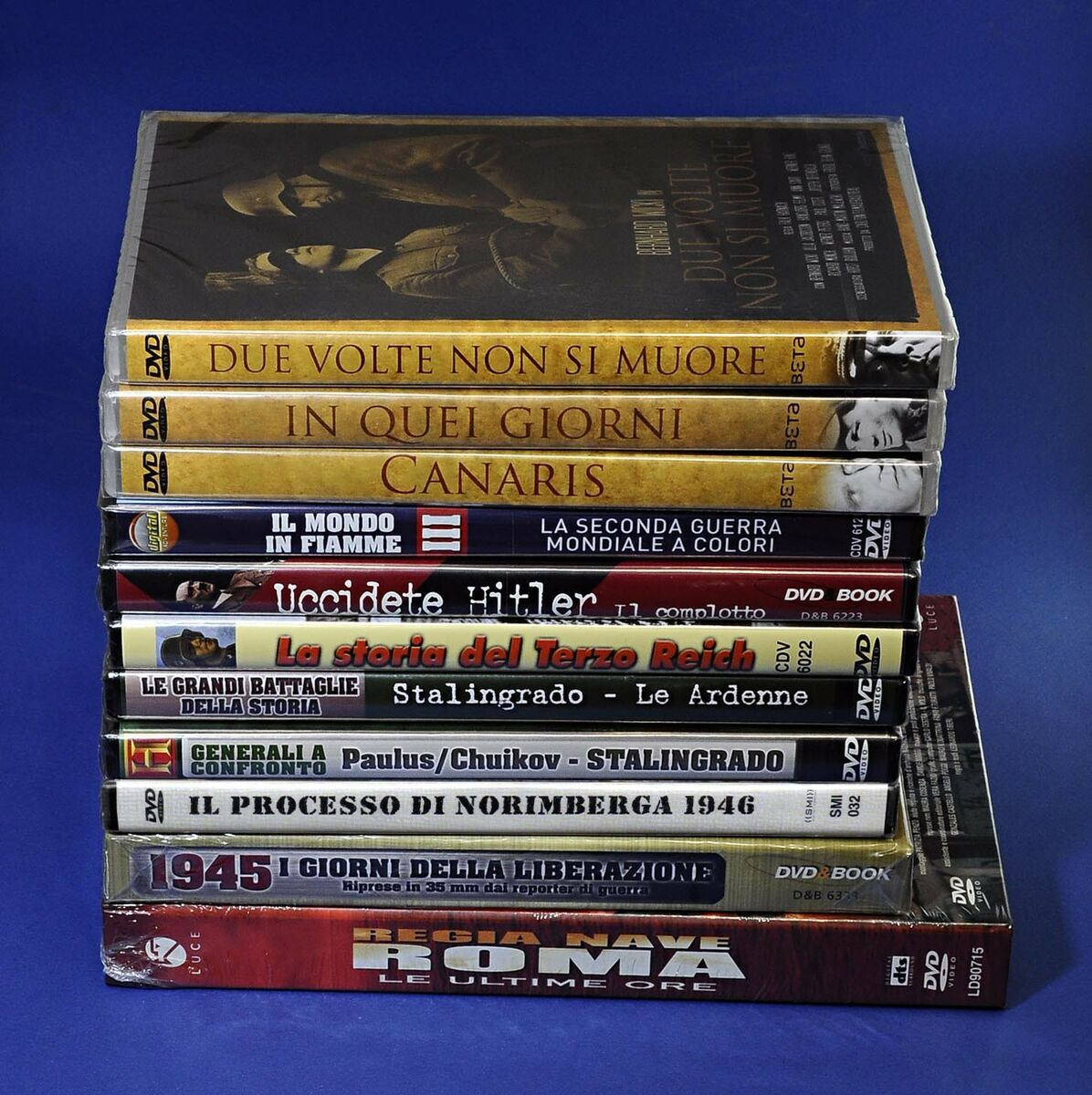 lotto 14 dvd documentari seconda guerra mondiale nazismo hitler e film guerra 