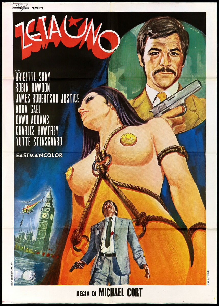 Zeta uno manifesto cinema film pop art psychedelic sexy thriller movie poster 2f 