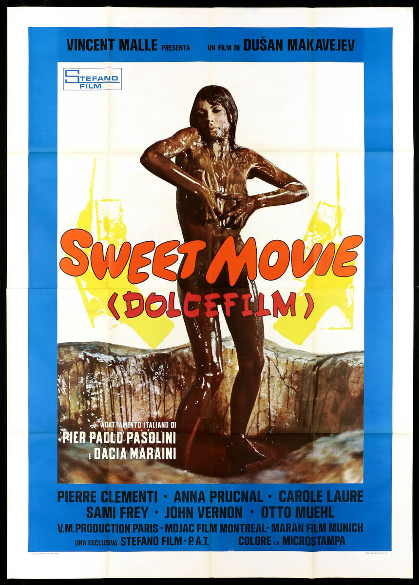 Sweet movie dolce film manifesto cinema carol laure sexy 1974 movie poster 4f 