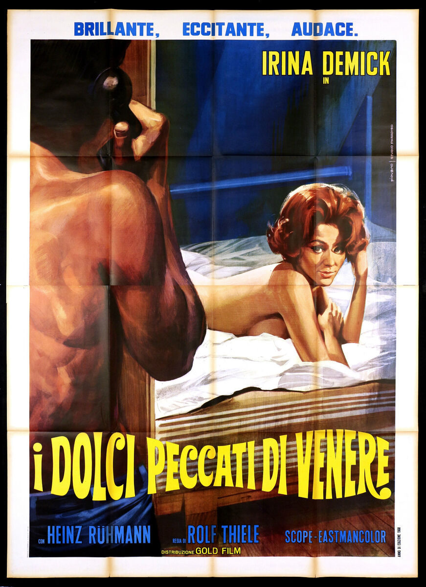 I dolci peccati di venere manifesto cinema sexy germania 1966 movie poster 4f 