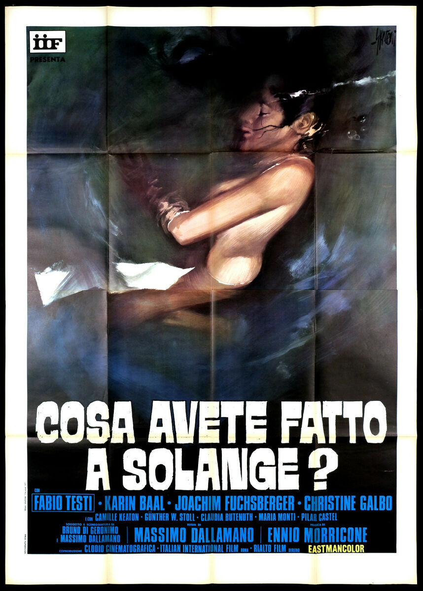 Cosa avete fatto a solange manifesto cinema thriller 1972 cult movie poster 4f 