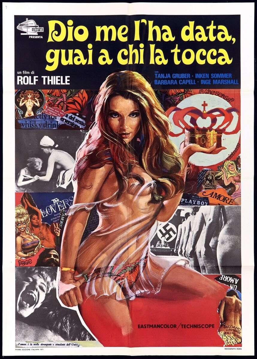 Dio me l ha data guai a chi la tocca manifesto film collage art movie poster 2f 