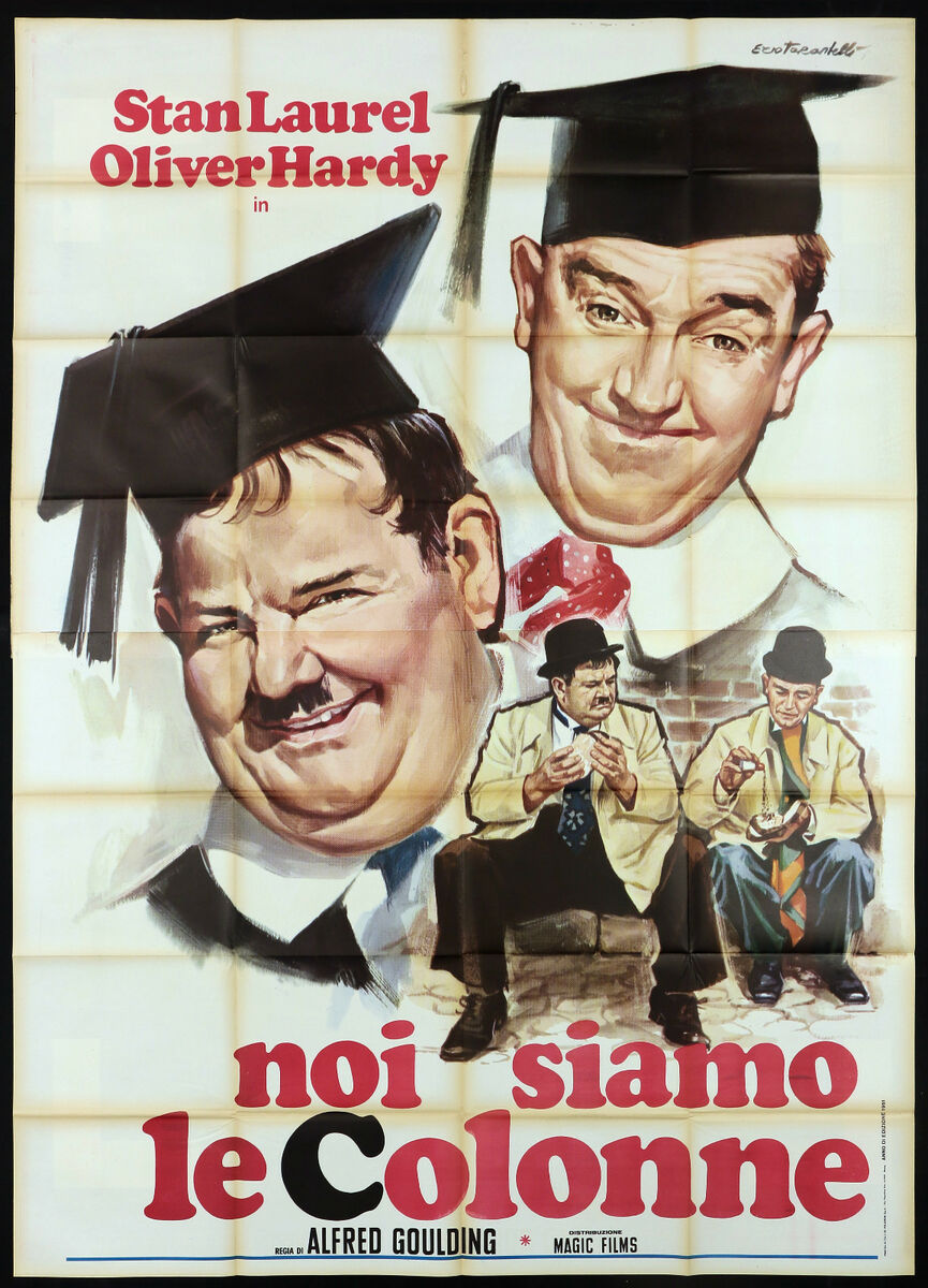 Noi siamo le colonne manifesto cinema stan laurel oliver hardy movie poster 4f 