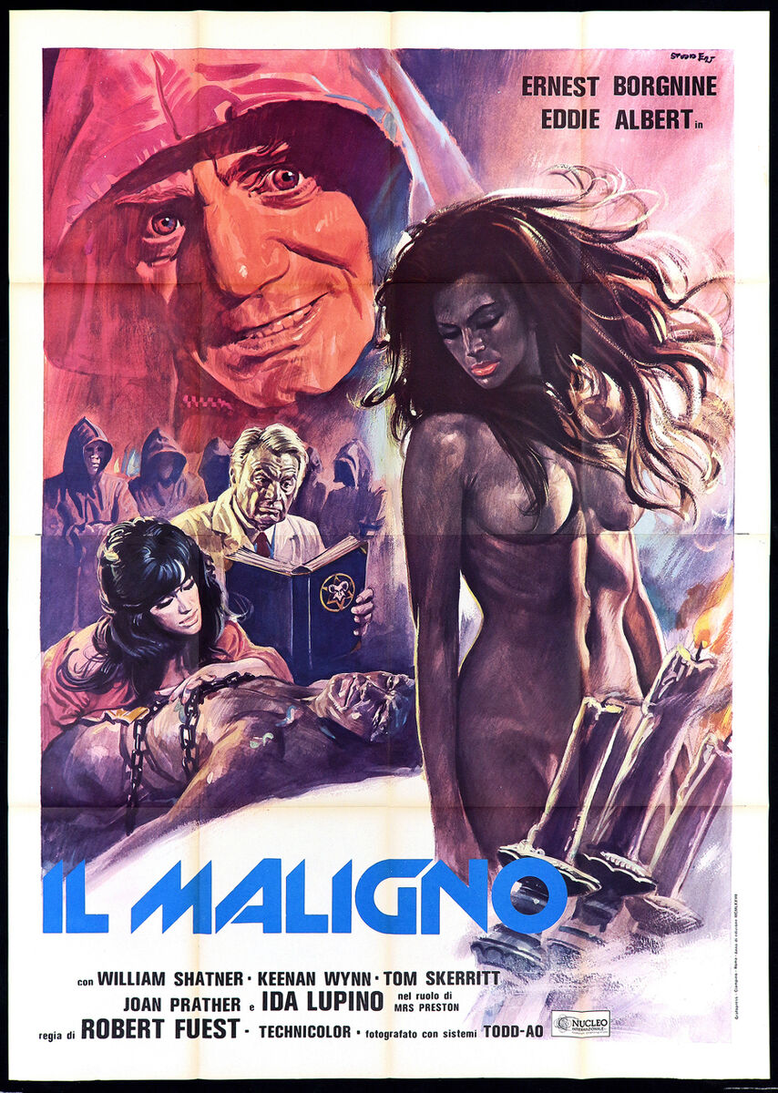 Il maligno manifesto cinema demonio horror 1975 the devil s rain movie poster 4f 