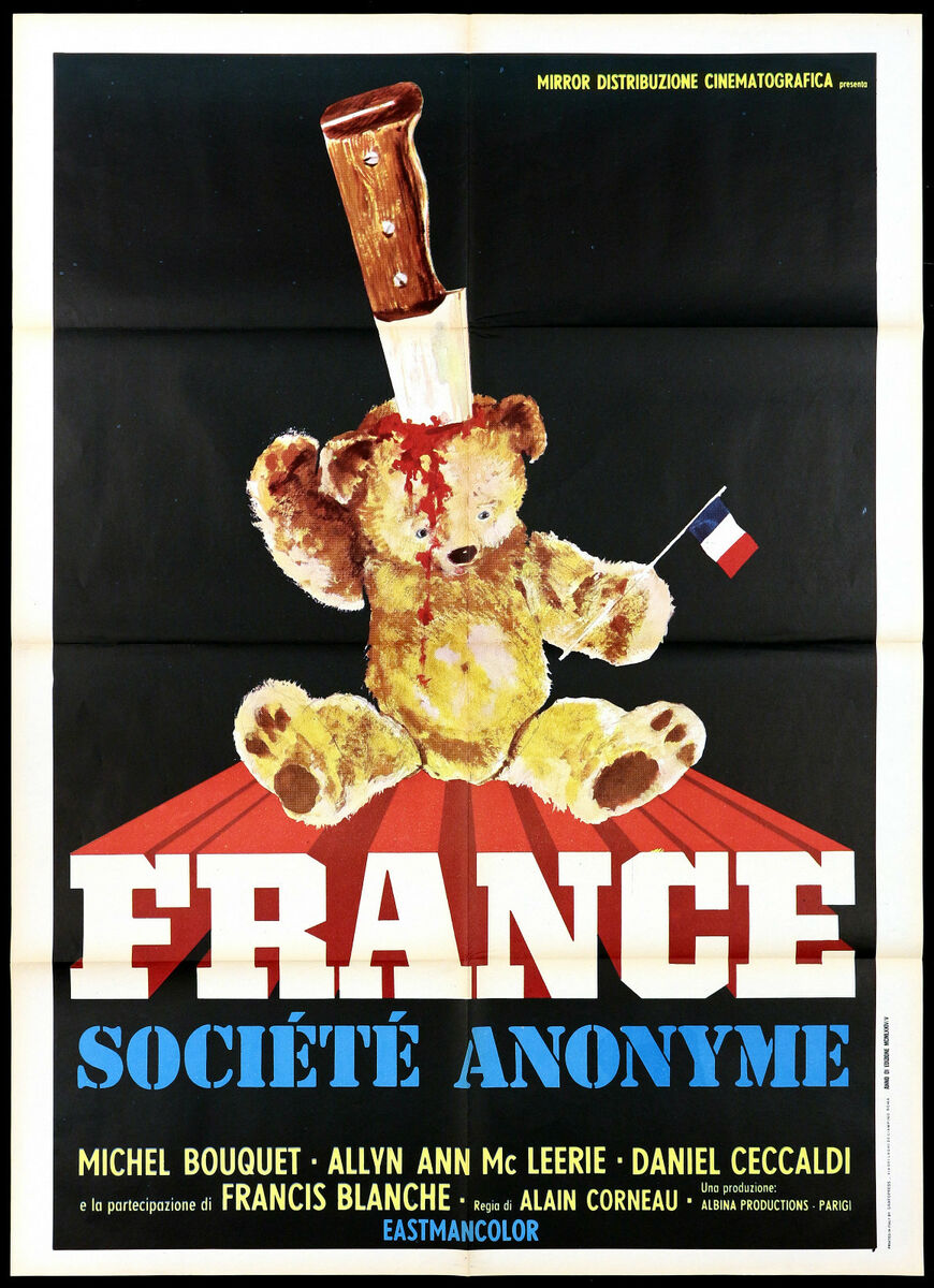 France soci t anonyme manifesto film michel bouquet sci fi 1973 movie poster 2f 