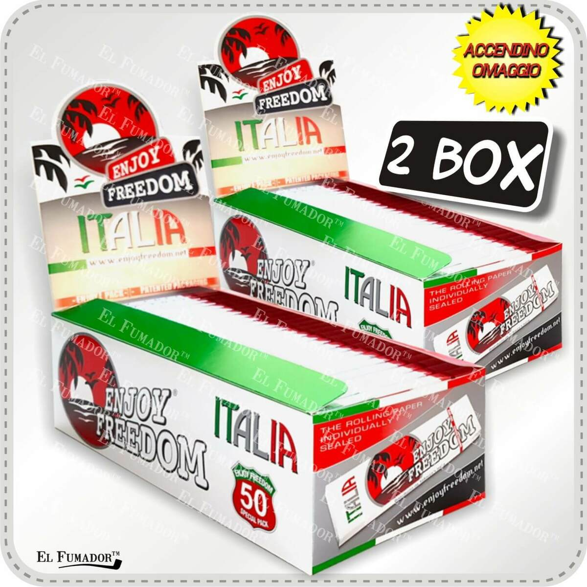 5000 cartine enjoy freedom italia corte 2 box 100 libretti bianche tipo a 