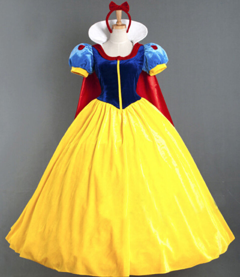 Biancaneve vestito carnevale donna dress up snow white woman costume snww01 e 