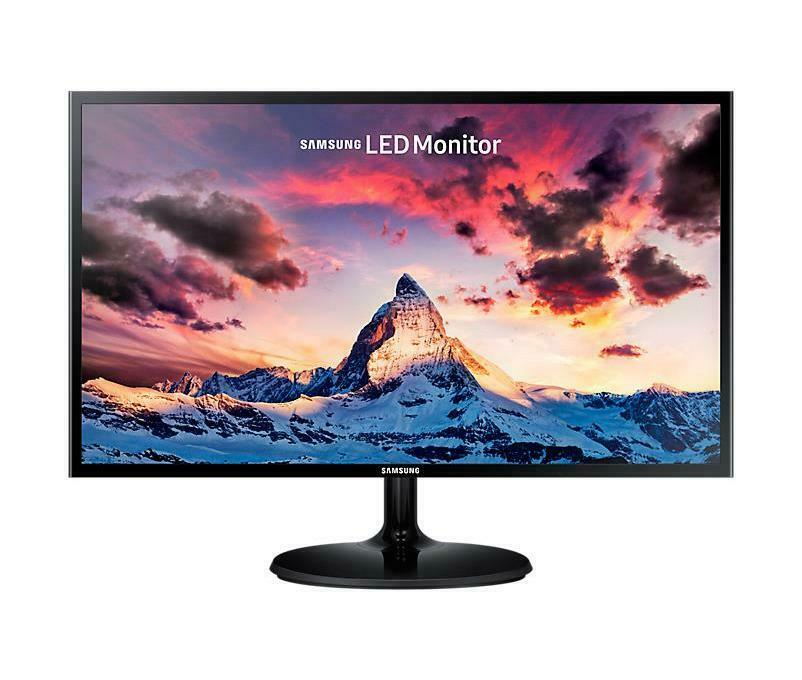 Samsung s24f350 monitor led 24 full hd pls 4 ms hdmi vga nero lucido 