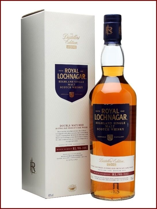 Royal lochnagar 13 y dist 1998 bot 2011 whisky double matured in old muscat cask Prezzo: € 89,95