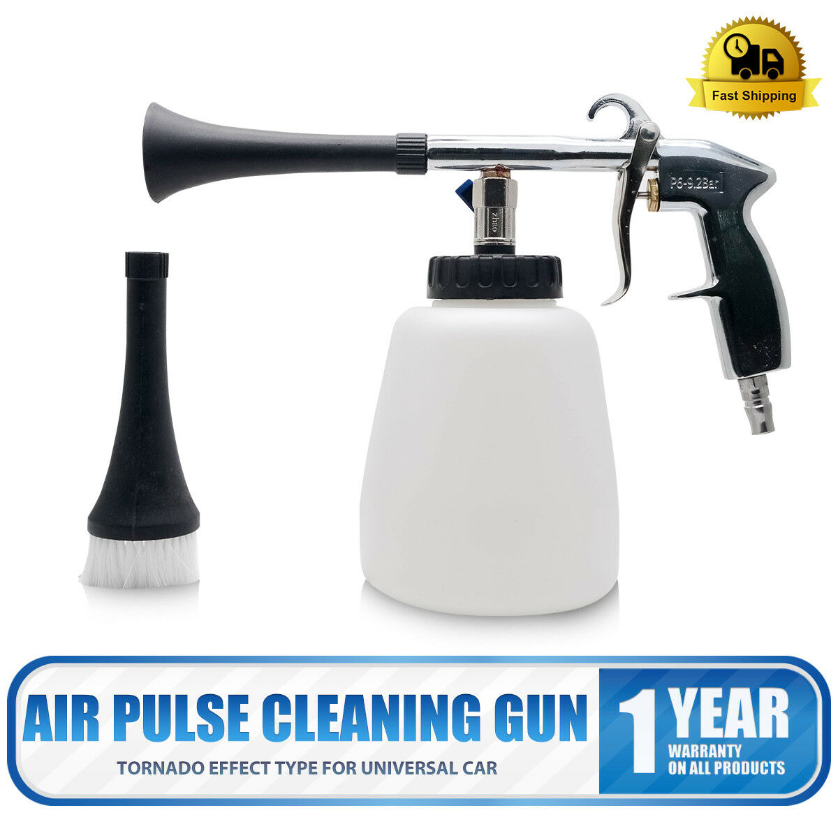 White tornador car surface cleaning washing air pulse spray tool with brush Prezzo: € 31,37