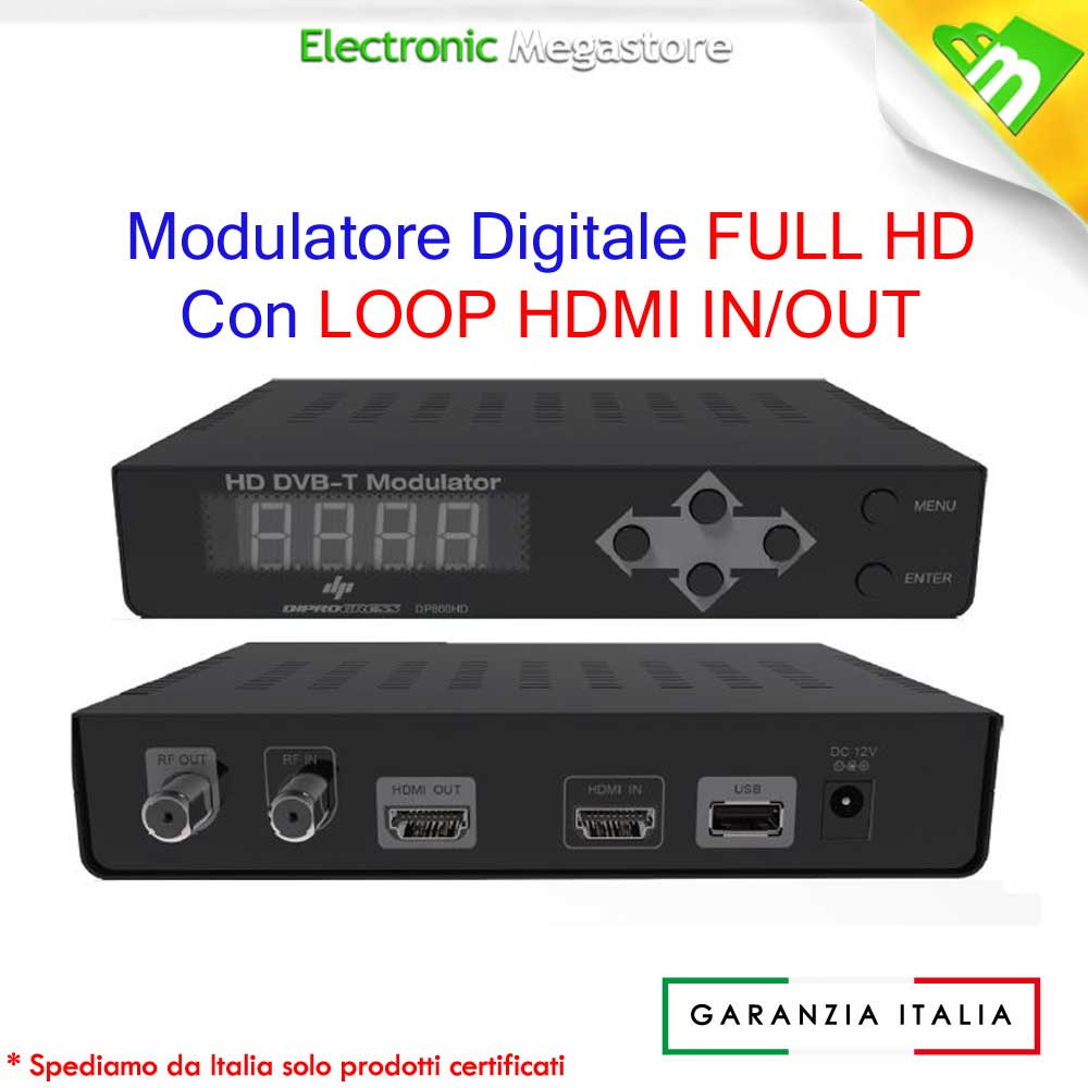Modulatore hdmi hd digitale tv audio video sky dvbt digitale terrestre uscita rf 