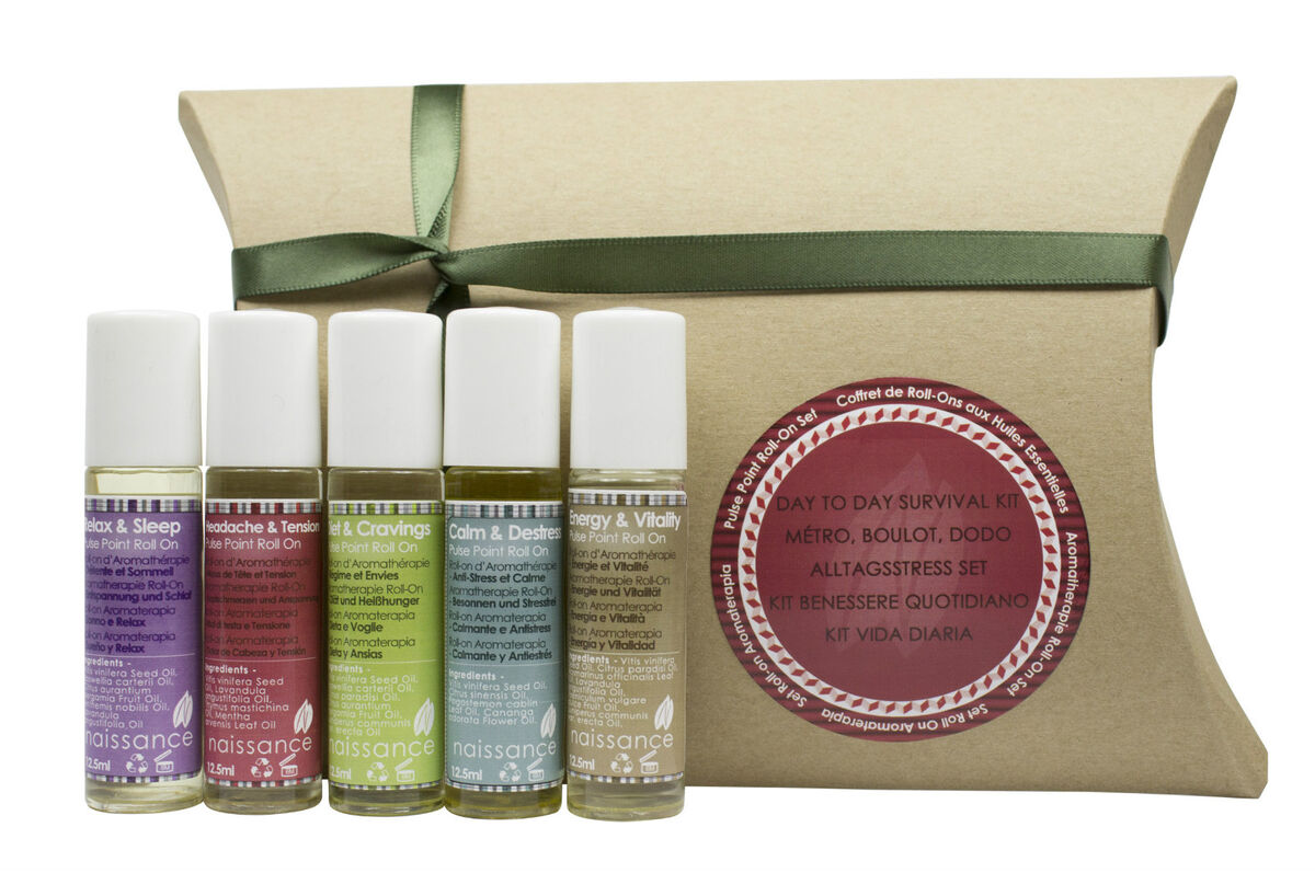 Kit benessere quotidiano aromaterapia roll on 5 x 12 5ml 