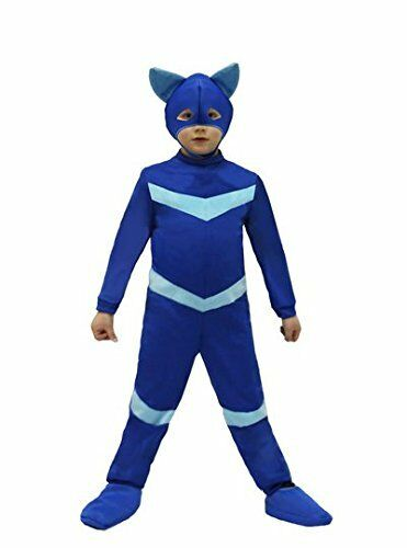 Vestito power gattino gatto blu pj f0732 carnevale costume party super pigiamini 