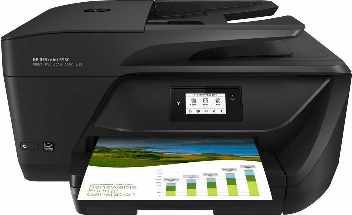 Stampante multifunzione wifi hp scanner fax p4c85ea officejet 6950 all in one 
