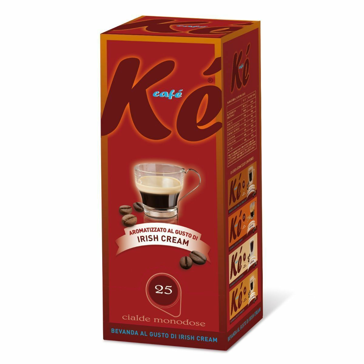 100 cialde caffe ke cafe molinari miscela irish cream ese 44 mm 