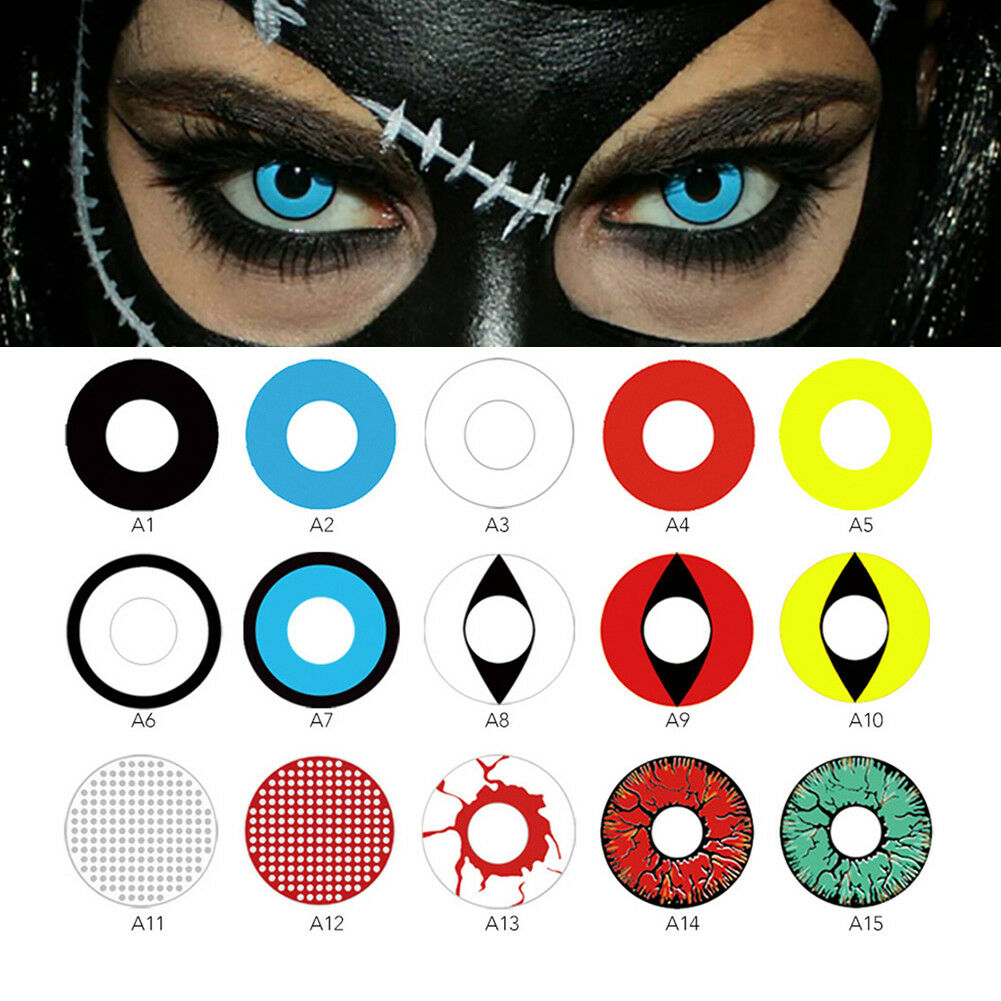 Eye color contacts lenses halloween party cosmetic cosplay colored lens novita