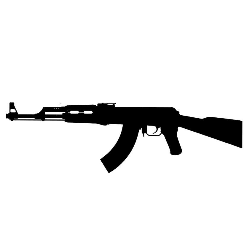 High quality supreme fake tattoo ak 47 machine gun waterproof temporary body art 