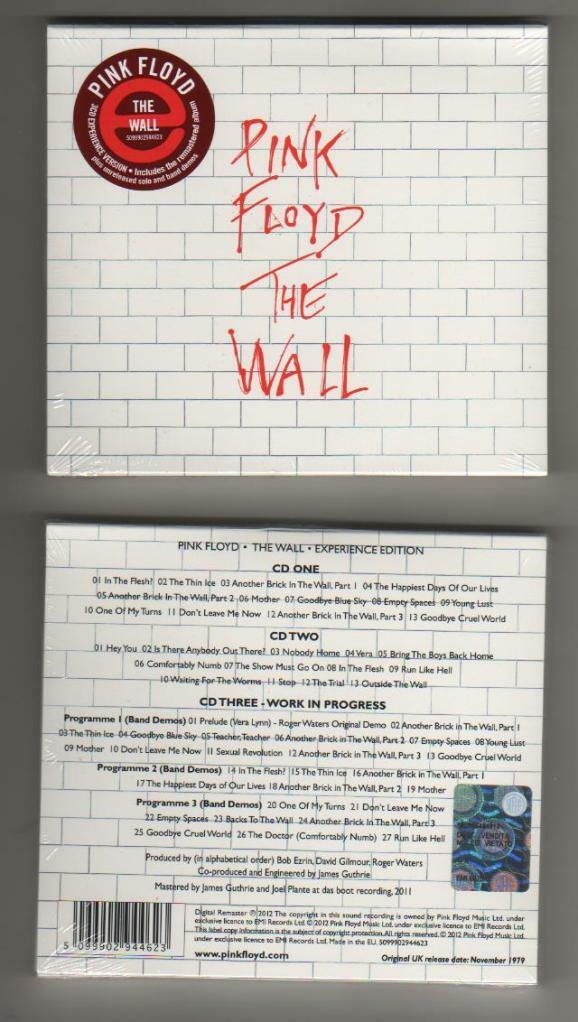 Pink floyd the wall special edition 3 cd digipack sigillato mint 