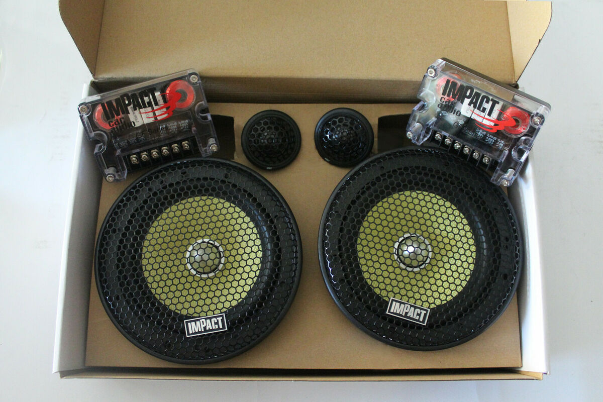 Impact gf 66s mk2 kit 2 vie mid woofer 165mm tweeter seta crossover 360w 