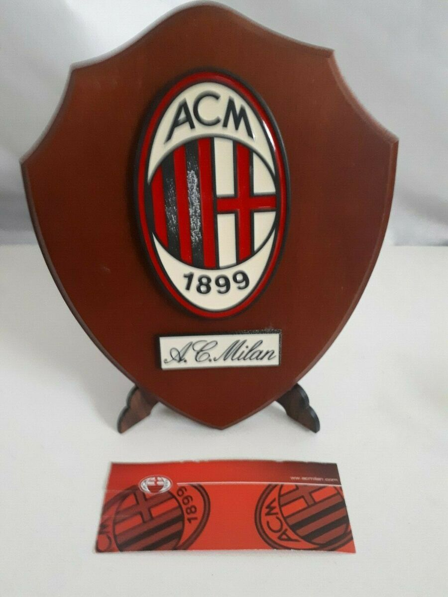 Crest in legno a c milan crest of wood football club calcio 