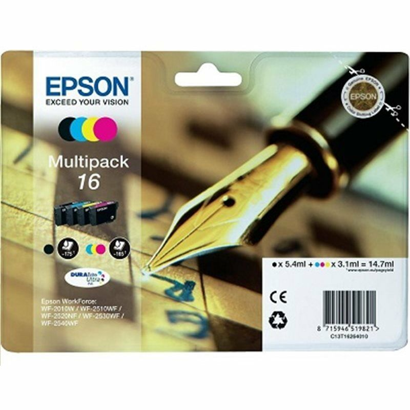 Original multipack c13t16264010 epson workforce wf 2010w wf 2510wf wf 2520 