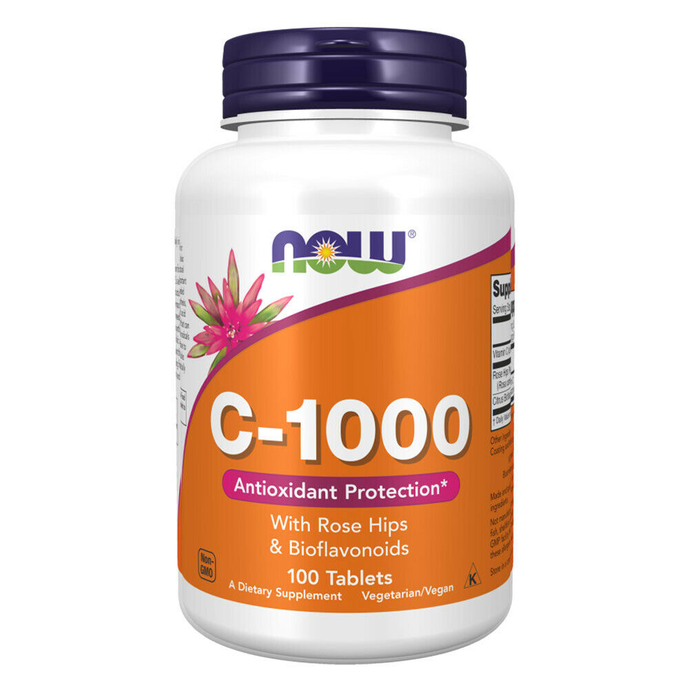 Now foods vitamin c 1000 with rose hips 100 tablets vitamine 
