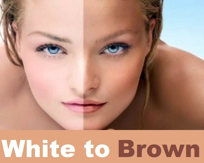 Bianco to brown abbronzatura artificiale spazzola ad aria spray whitetobrown 
